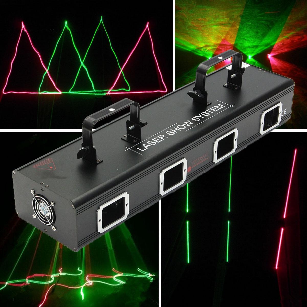 Mising Professional 30W Laser Light Show System 110V Stage Lighting Effect RGB Light Lamp For DJ Stage KTV Club Bar Party Pub