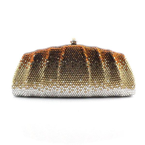 Fashion Luxury Diamond Evening Bag Multi Crystal Clutch Bag Women Wedding Party Purse banquet bag Handbag(1020-GG ) fashion women clutch evening bag luxury handbags banquet wedding party shoulder