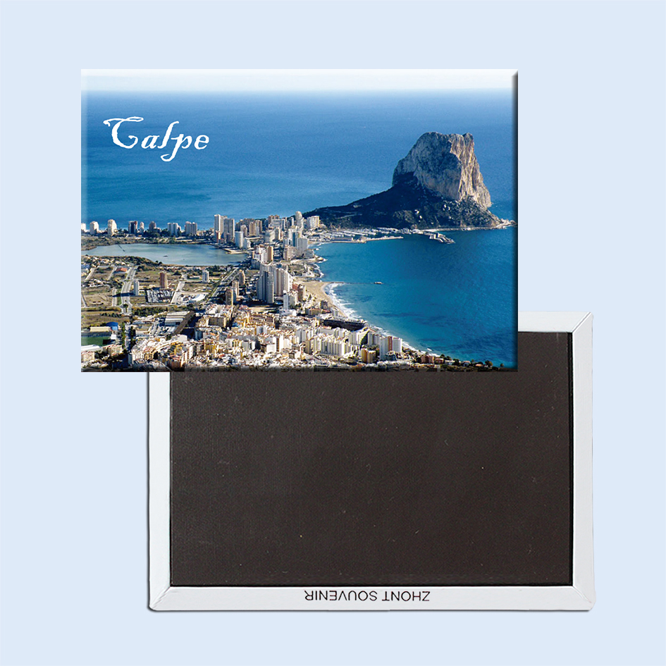 Calp, Spain, by the Mediterranean Sea Fridge Magnets 21672 Resort Souvenir
