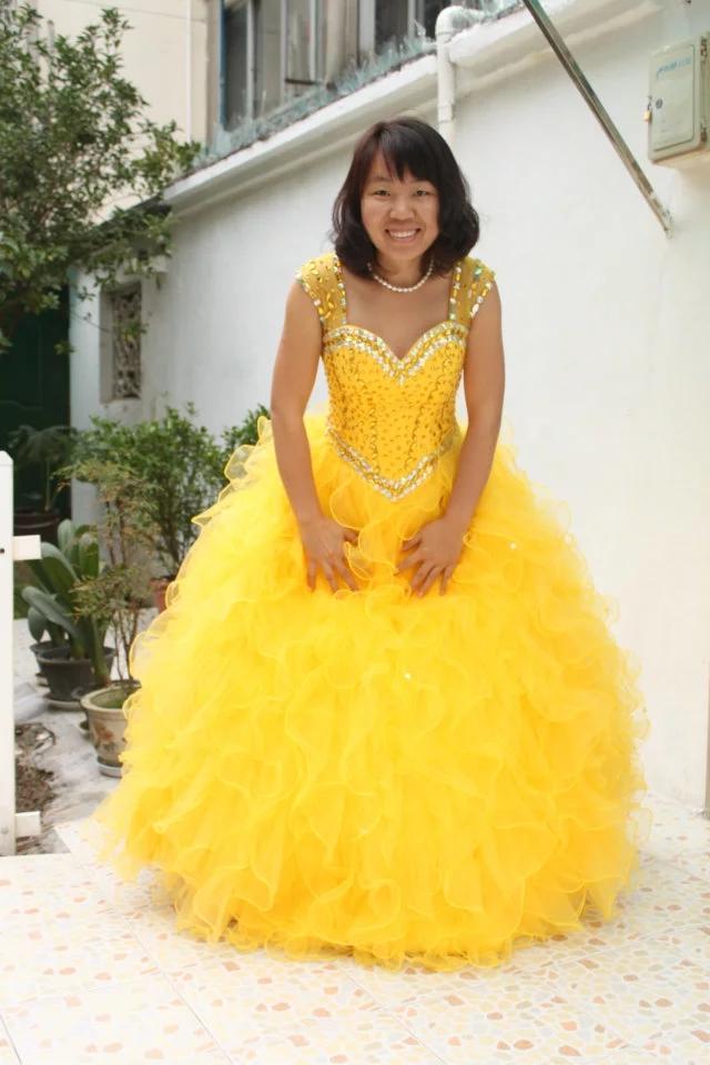 Mejordescuento Vestidos Kejiadian De 15 Anos 2018 Vestidos De Quinceañera Amarilla Sweetheart Vestido De Baile Con Cuentas Para Quinceañera Vestido De Fiesta March 2021