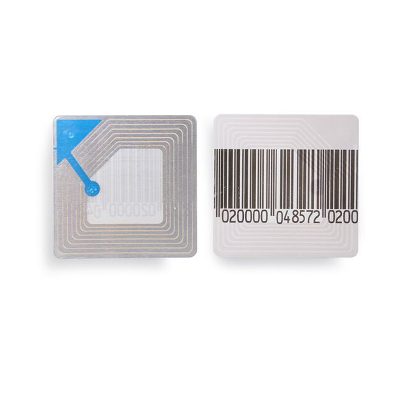 HOUZE 40 000 PCS Lot Security barcode label 4x4cm stickers RF 8 2MHZ EAS soft label
