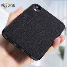 KISSCASE Cloth Texture Case For Samsung Galaxy A8 Plus A6 2018 Frabic S10 S10e Note 9 8