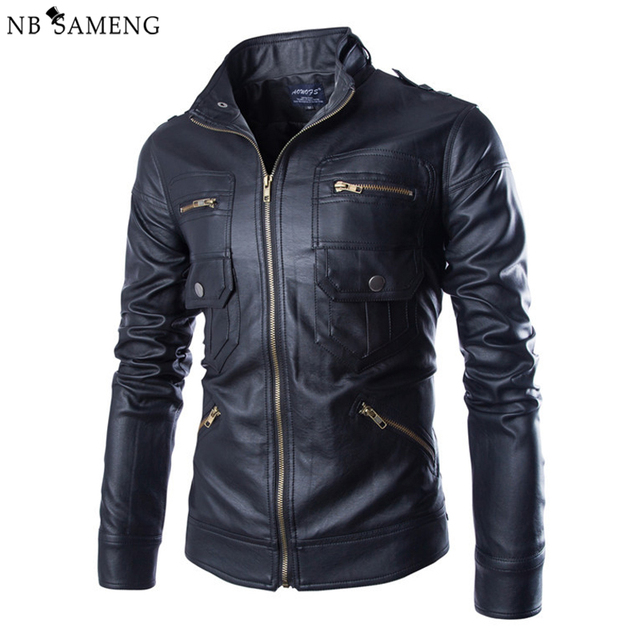 2016 New Autumn Leather Jacket Men Jaqueta De Couro Masculina Brand Mens Jackets And Coats Chaqueta Hombre Motorcycle Jacket