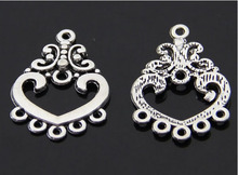 10pcs/lot Fashion DIY Jewelry Antique Silver Pendant Earrings Accessories Charms jewelry accessories findings(China)