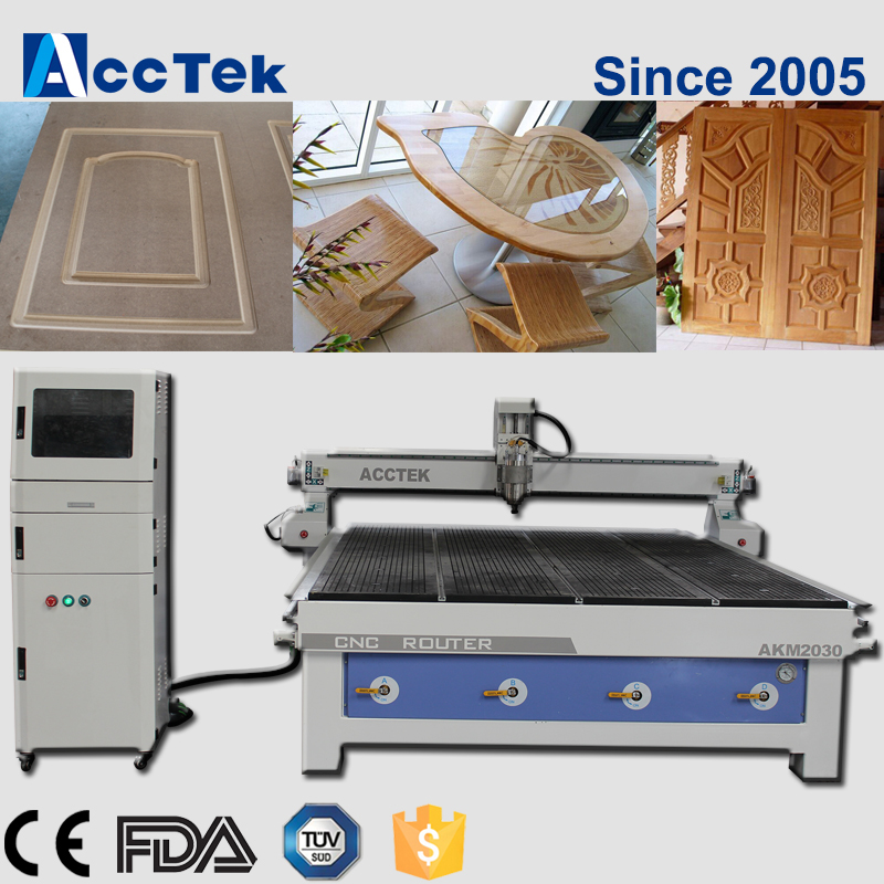 Door Making Woodworking Cnc Router AKM2030 3d Wood Carving Cnc Machine Advanced Technology CNC Wood Router