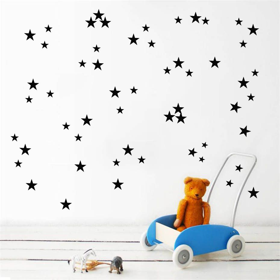 Us 1 12 25 Off Diy Stars Color Wall Sticker For Kid Bedroom Art Decal Baby Nursery Room Removable Wallpaper Home Good Decor Vinyl Self Adhesive In