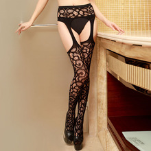 Whirl Lace Garter Belt and Stockings