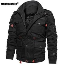 Mountainskin Для мужчин Зимние флисовые куртки теплое пальто с капюшоном Термальность плотная верхняя одежда мужской военной куртки Для мужчин s брендовая одежда SA600