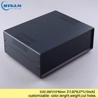 Iron junction box custom desktop enclosure Iron electronic project box housding pcb diy design instrument case 280*210*80mm