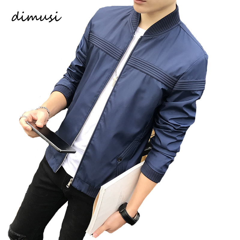 DIMUSI Spring Autumn Mens Jacket Stand Collar Windbreaker Male Casual Sportswear Baseball Jackets And Coats 4XL,TA336
