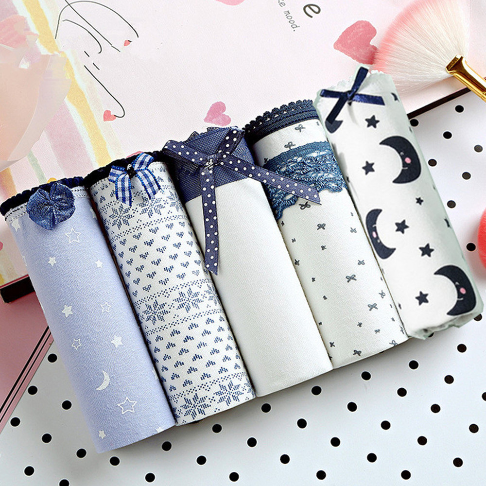 2019 New Arrival 5pcs Sexy Cute Style Fashion Women's Panties Briefs Seamless Underwear Grils Briefs High Quality Flora Lingerie