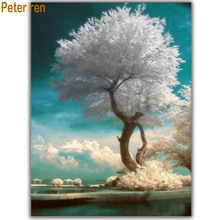 Diy Diamond painting Landscape tree full square embroidery Jilin Rime 3d mosaic picture with rhinestones hobby