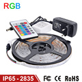 Goodland RGB LED Strip Light Waterproof IP65 5M 2835 SMD Flexible RGB Lights Tape IR Remote Controller 12V 2A Power Supply