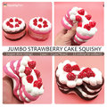 Squishy Slow Rising Strawberry Cake Jumbo Kawaii Phone Strap Bread Stretchy Fun Gift Cute Sweet Cream Scented Kids Toy