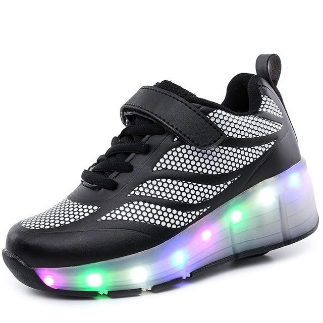 Hot 17 Jenis Sepatu Anak Anak-anak Olahraga Kasual Rooler Sepatu Fashion  Anak dengan LED 8fe62977e8