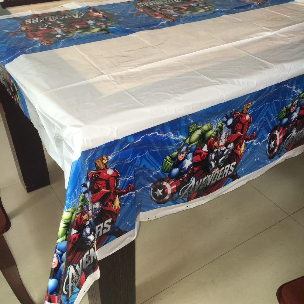 Superbe 108cm*180cm 1pcs Avengers Superhero Tablecloth Party Supplies Plastic  Tablecover For Kids Boy Favor Childrenu0027s Day Festival Map In Disposable  Party ...