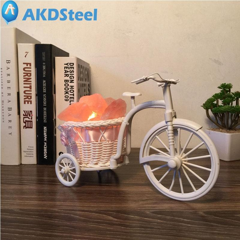 AKDSteel Creative Crystal Salt Table Light Festooned Vehicle Christmas New Year Decor. Lamp Helease Natural Negative Ions tf oygroup mini hand carved natural crystal himalayan salt lamp night light cylinder shaped illumilite lamp salt light oy17nl02