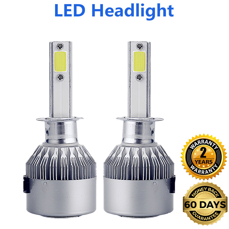 2Pcs H4 LED H7 H11 H1 H3 9005 9006 COB S2 Auto Car Headlight 36W 8000LM High Low Beam Automobiles Lamp white 6500K Bulb 4 sets h4 h l high low 64w cree led headlight 2 cob xenon white 5500k 2000lm car truck universal 12v 24v h7 h8 h11 9005 9006 mix