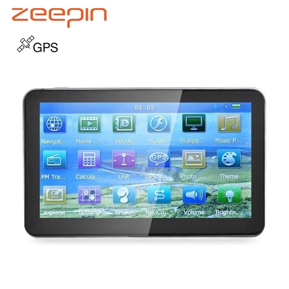 Zeepin 704 7 дюймов грузовик Автомобильный gps навигатор Win CE Media Tek MT3351C сенсорный экран с бесплатной карты