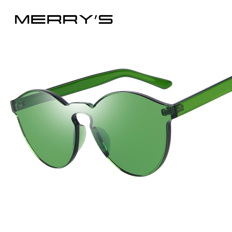MERRYS Fashion Women Sunglasses Cat Eye Shades Luxury Brand Designer Sun glasses Integrated Eyewear Candy Color UV400 S703