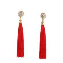 Фотография Fashion Trendy Dangle Earrings Tassel Earring with rhinestone for