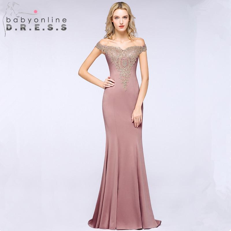 Robe de Soiree Sexy Lace Crystals Pink Long   Evening     Dress   2019 Elegant Cap Sleeve   Evening   Party   Dresses   Vestido de Festa