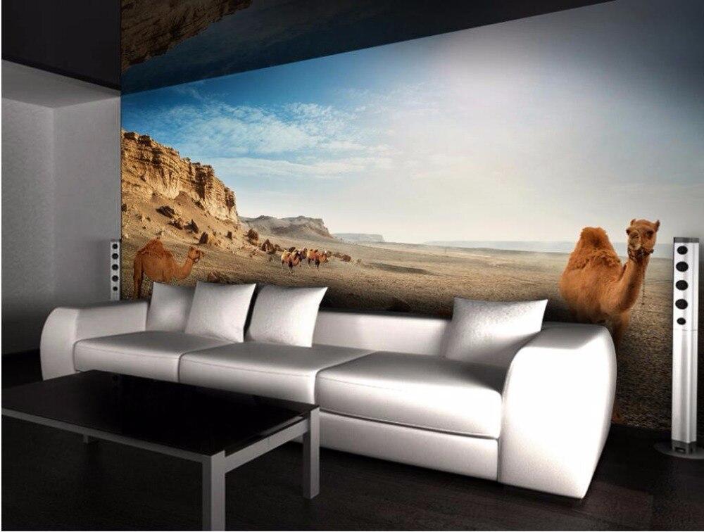 Custom photo 3d room wallpaper Camel desert landscape home