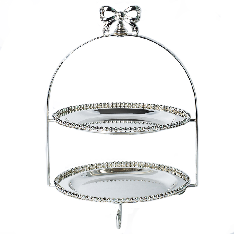10 Butterfly Alloy Double Tiers Cake Stand Decorative Metal Wedding Dessert Serving Tray Afternoon Tea Dinnerware Supplies10 Butterfly Alloy Double Tiers Cake Stand Decorative Metal Wedding Dessert Serving Tray Afternoon Tea Dinnerware Supplies
