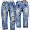 3922 crianças de jeans meninos calça jeans azul calça casual calças primavera outono 2016 não desbotar jeans calças moda infantil roupas novas