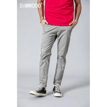 SIMWOOD 2019 Summer Autumn New Casual Pants Men  Cotton Slim Fit Chinos Fashion Trousers Male Brand Clothing Plus Size 1
