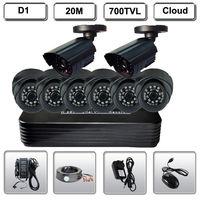 Home Security 8CH CCTV DVR 8 HD 700TVL IR Security Camera Surveillance System
