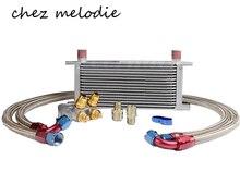 Universal MOCAL Tipo BRITÂNICO 16 linhas AN10 oil cooler kit + filter Realocação radiador Sandwich Placa adaptador com Termostato