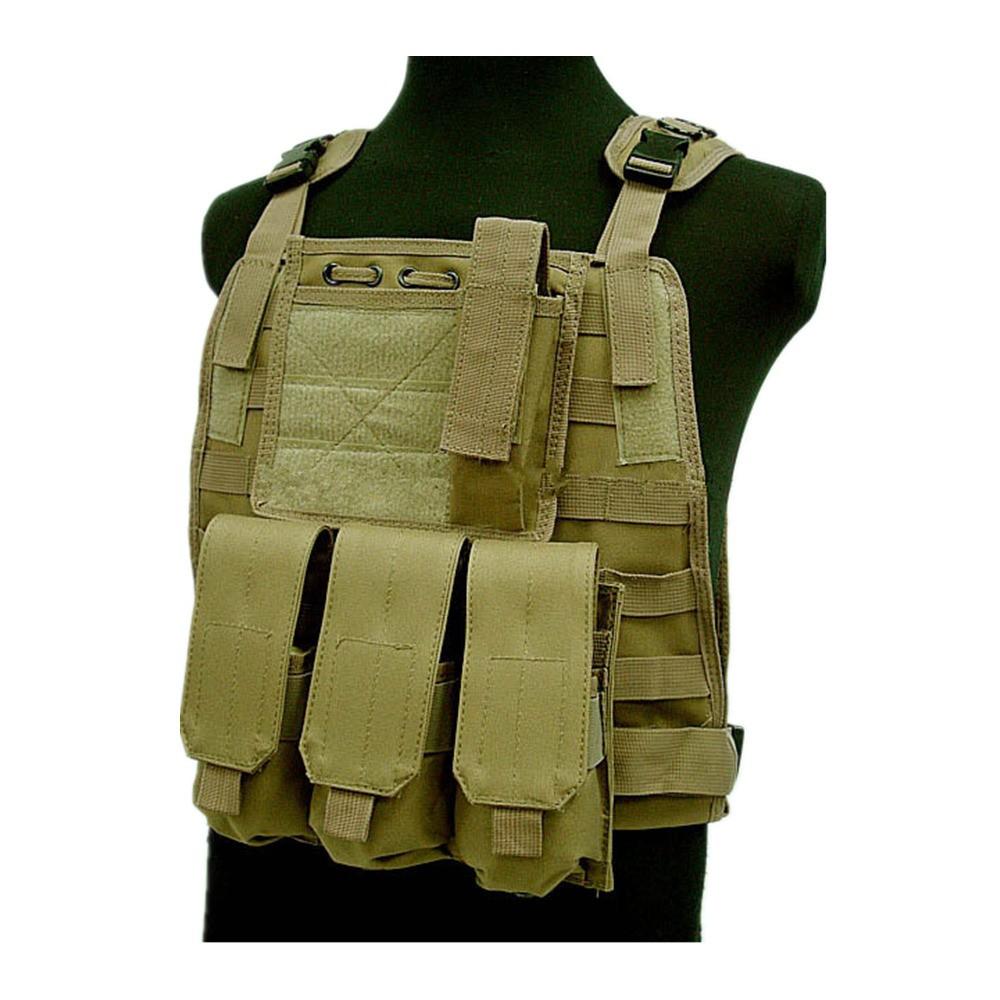 US Marine Assault Tactical Molle Plate Carrier Vest BK CB vest (6)