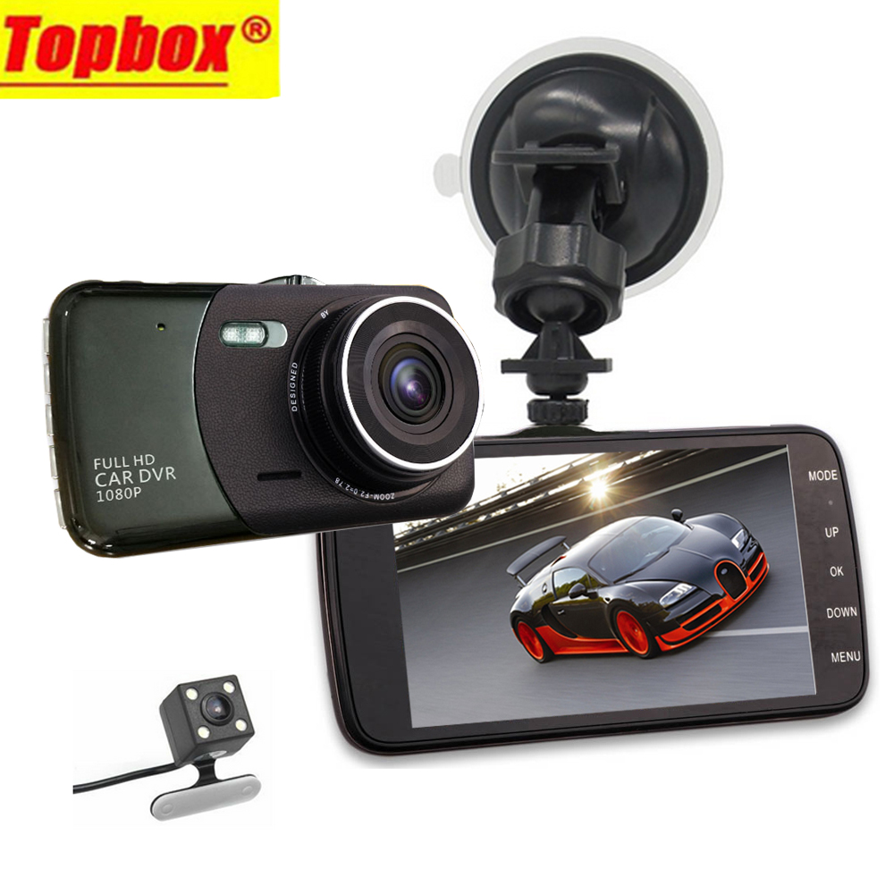 2016 New Dual Lens Car DVR Cam Dashcam 4 1080P Full HD Video Registrator Recorder With