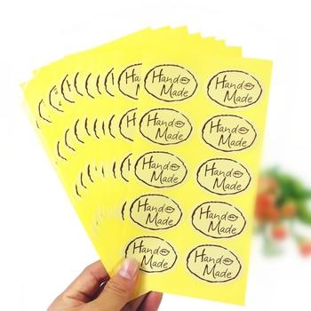 Lote de 100 unidades de pegatinas de sellado hechas a mano de hojas Kawaii, etiquetas de regalo hechas a mano de alta calidad, pegatinas para estudiantes, pegatinas DIY para decoración de diarios