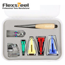 Useful Sewing Accessories Bias Tape Maker Kit for & Quilting Awl and Binder Foot