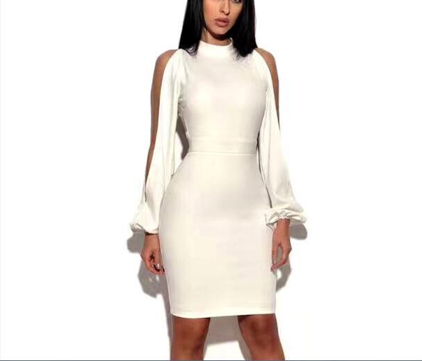 high quality bandage dress celebrity elegant backless night club fashion evening party lantern. Black Bedroom Furniture Sets. Home Design Ideas