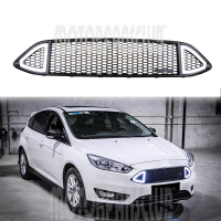 1Pcs Car Racing Grill Grille ABS Black Radiator Chrome Front Bumper Modify Trim Mesh With White