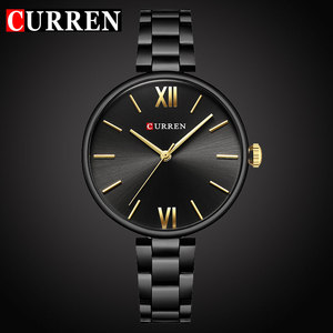 Image 1 - CURREN Top luxury brand Women Watch Quartz Female clock Casual Fashion Stainless steel Strap Ladies Gift relogio feminino New