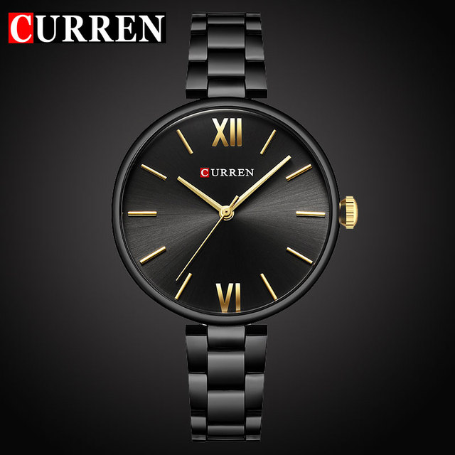 CURREN Top luxury brand Women Watch Quartz Female clock Casual Fashion Stainless steel Strap Ladies Gift relogio feminino New