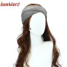 SunWard Good Deal  2017 New Brand  Fashion  Winter Women Bohemia Weaving Cross  Handmade Hairband   1pc