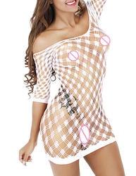 Европа и США для женщин полые сиамские сетки Чулки для сексуальное женское белье юбка пикантные прозрачные без бретелек