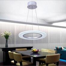 Европейский творческий круговой СВЕТОДИОДНЫЕ люстры, офис/спальня/ден/столовая подвесные светильники, AC90-265V, 40 СМ 16 Вт
