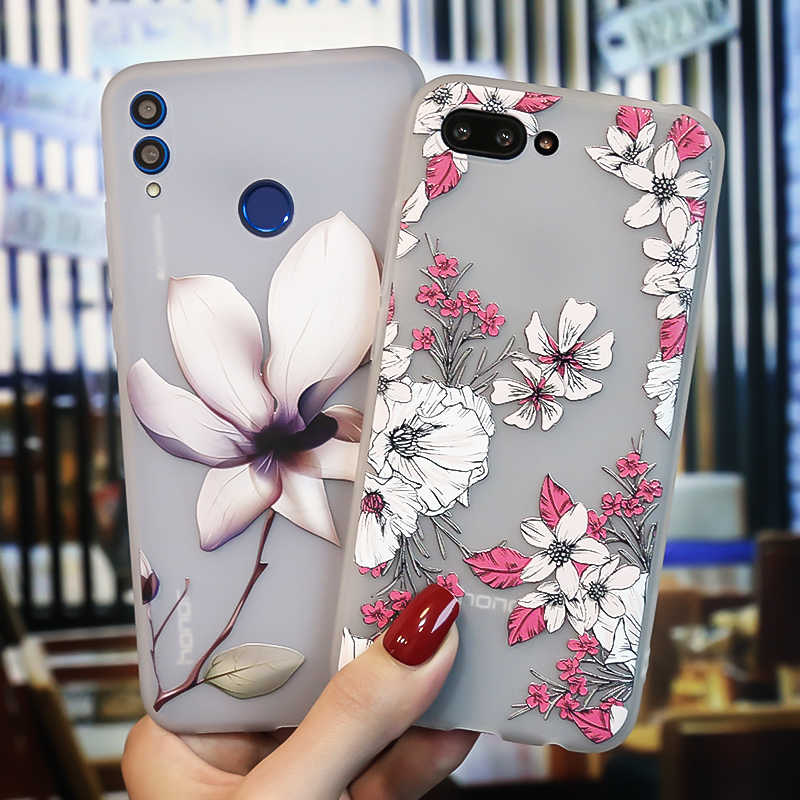 3D Relief 7C Honor 10 Lite Case Huawei Honor 8C 8 9 Lite 6X 6C 8X Honor 7C 7A Pro Case Silicon Coque Mate 9 20 Pro 20 lite Cover