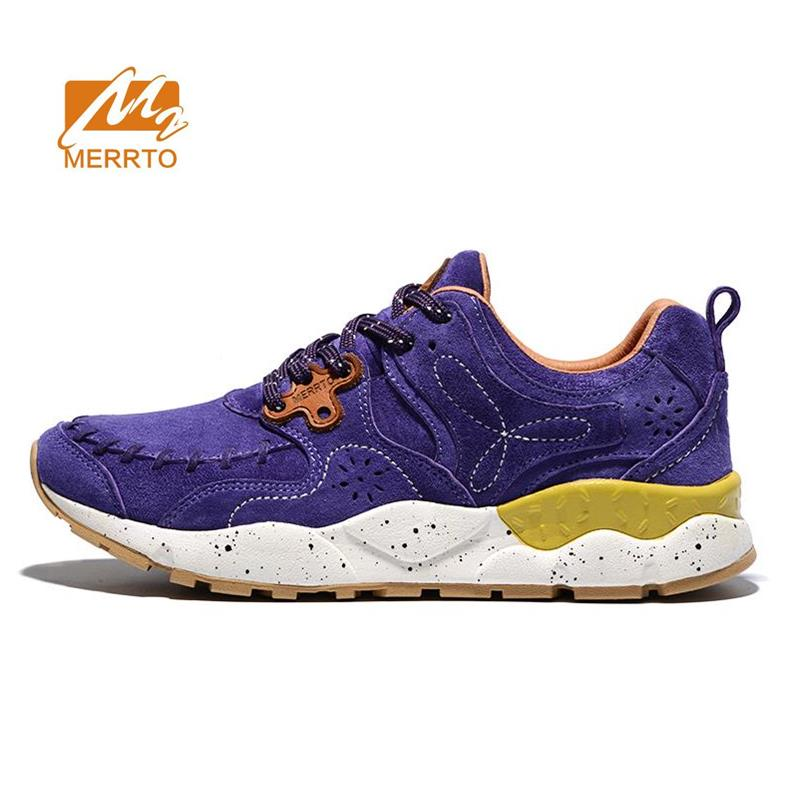 MERRTO Women's Fur Leather Sports Outdoor Hiking Trekking Shoes Sneakers For Women Sport Climbing Mountain Shoes Sneakers Woman merrto mens summer sports outdoor trekking hiking sneakers shoes for men sport climbing mountain shoes man senderismo