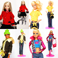 4sets/lot New Design Handmade Clothes Sweet Suit Set Leasure Winter Wear Dress Clothing Accessories For 1/6 Kurhn Barbie Doll