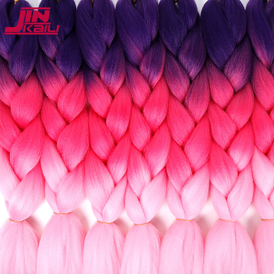 Hair Braids Jumbo Braids Shop For Cheap 24 Inch 100g/pack Ombre Synthetic Kanekalon Braiding Hair For Crochet Braids False Hair Extensions African Jinkaili To Win A High Admiration