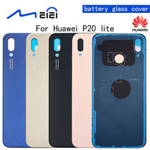 Back Battery Cover Replacement For Huawei P20 Lite Rear Housing Glass Chassis Door Back Case With Sticker(China)