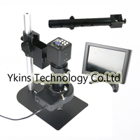 2 in 1 USB VGA output industrial microscope video camera +Mini Stand Universal bracket +130X C MOUNT Lens+56 LED Light