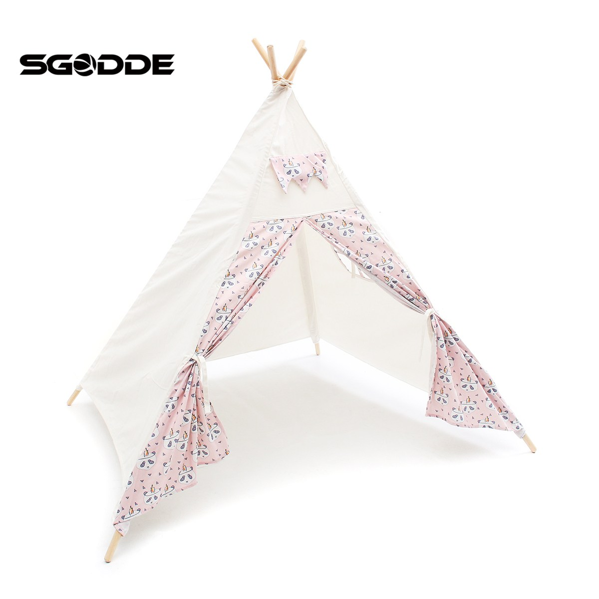SGODDE Cute Play Tent Children Kids Playhouse Sleeping Dome Castle Toy House Gift Outdoor Camping Sun Shelter Supplies